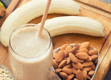 Paleo smoothie with banana