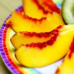 sliced peaches